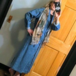Long Vintage denim jacket S/M